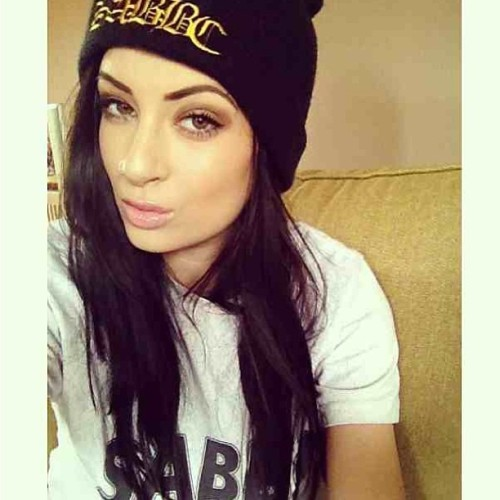 Front model @alicesey wearing our black and gold beanie on sale for £10 only. She's also wearing our dash dye available nationwide and online in Ark stores.