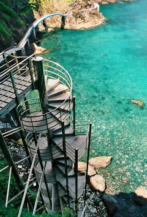 visitheworld:  Spiral staircase in Ulleung-Do Island, South Korea (by ChrisJ).