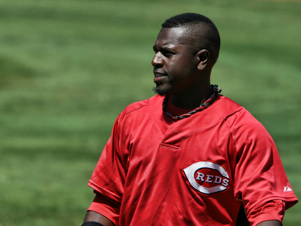 Brandon Phillips March 2008 - Cincinnati Reds second baseman Brandon Phillips.