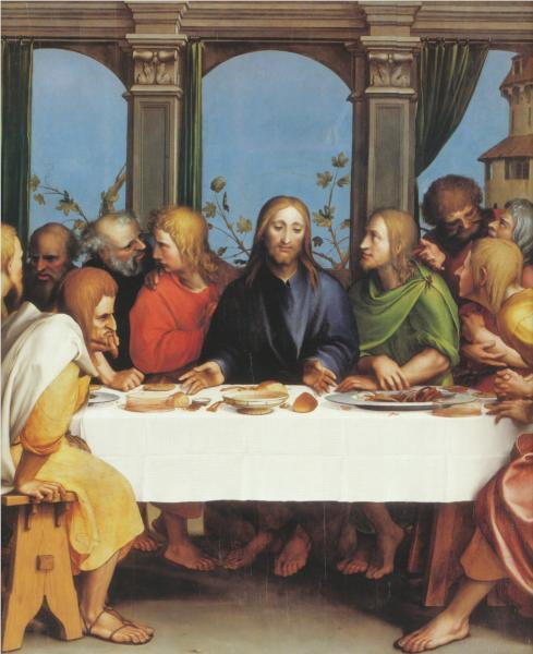 Hans Holbein the Younger, The Last Supper, 1525.