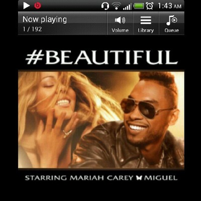 Addicted to @mariahcarey new single featuring Miguel.  It's phucking #BEAUTIFUL it makes me feel undressable #beats #htcsensationxebeatsedition #music #goodnight