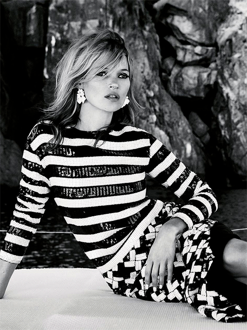 "abigaildonaldson:  Kate Moss in ""Sail Away"" by Patrick Demarchelier for Vogue UK June 2013"