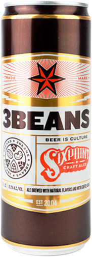 laughingsquid:  3Beans, A Sixpoint Beer Made with Mast Brothers Cacao Beans & Stumptown Coffee  Yes, please.