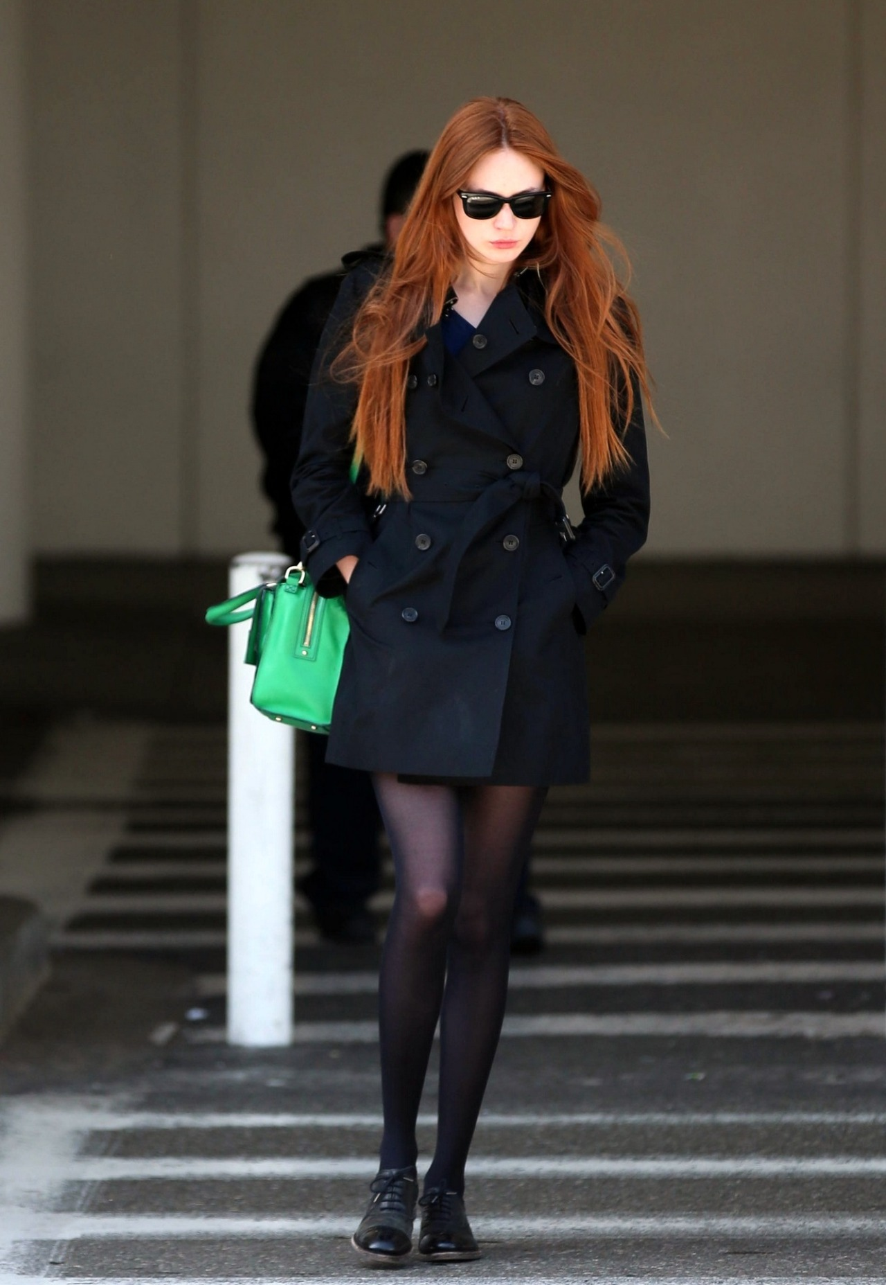 fuckyeahhotactress:    Karen Gillan - LAX airport arrival candids in Los Angeles - May 18, 2013