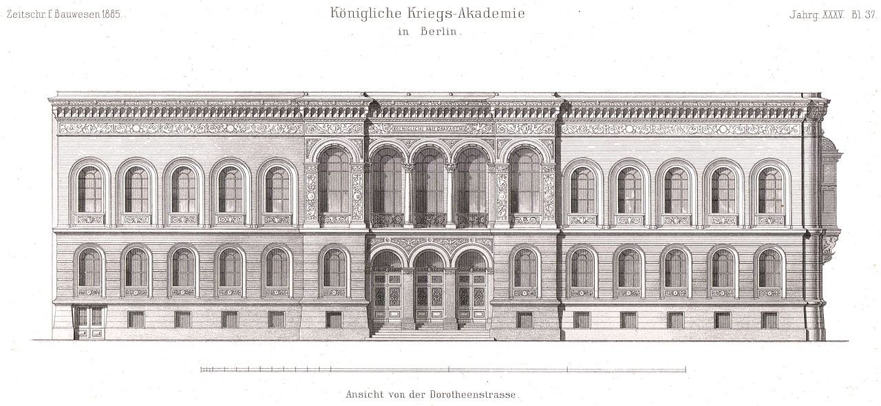 Elevation of the War Academy, Berlin