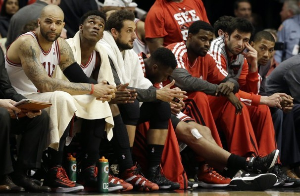 sportige:  It was sad watching the Chicago Bulls simply run out of ideas, but there's only so much you can do with so many injuries.