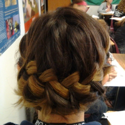 Doing Heather's hair in WHAP.