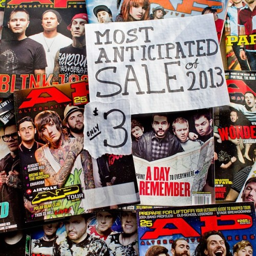 Back issues with covers featuring any of our Most Anticipated 2013 bands are now only $3 ea.! *January only. www.altpress.com/store under clearance. #music #sale #2013 #altpress