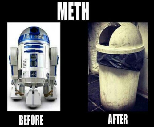 R2D2 is New Face of Meth Crippling drug addiction is his master now.