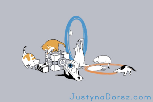 Portal Cats by ~JustynaDorsz