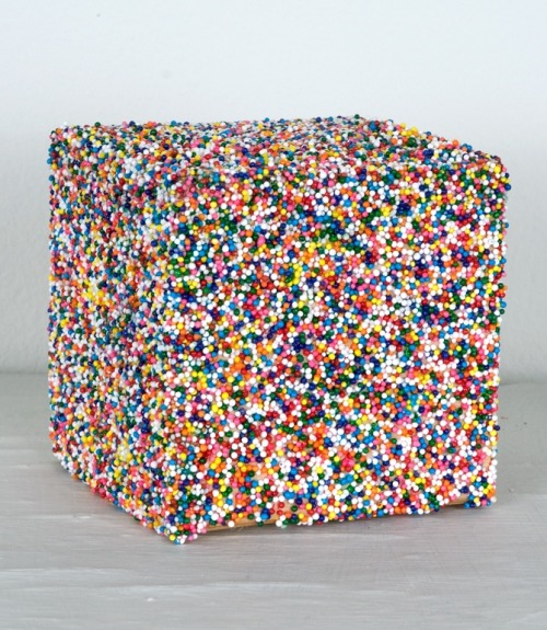 mdme-x:  nicole killian // sprinkles // found objects, wood, sprinkles (2010-11)
