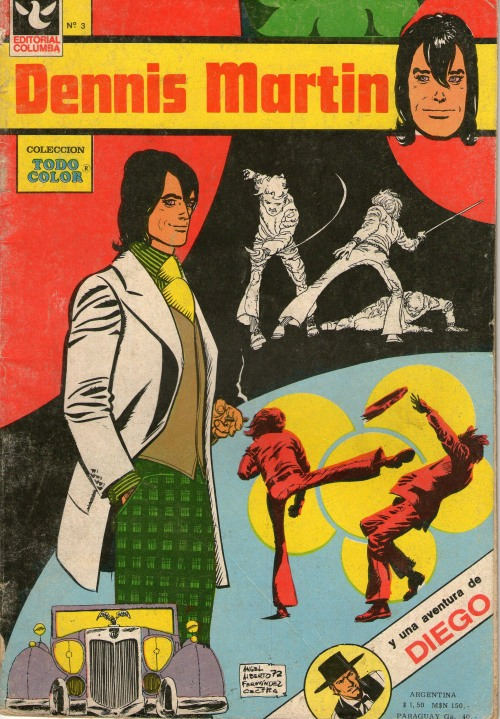 Dennis Martin comic book. The groovy secret agent. Read more about this comic book character here.