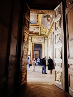 | ♕ |  Entering the gallery of Louvre  | by © Julia Caffarena | via ysvoice  escape.