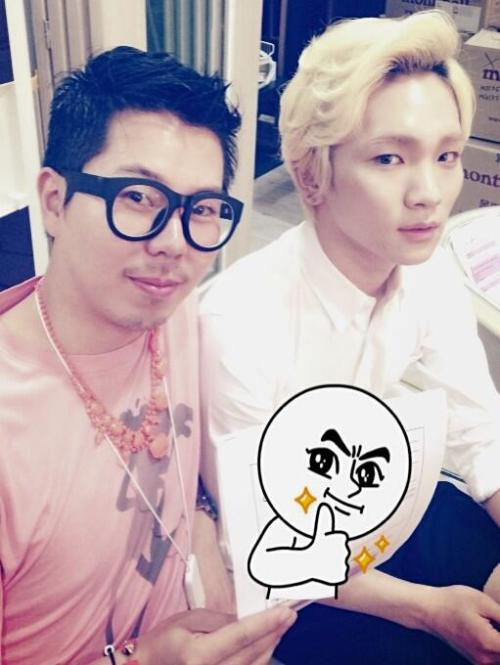 [Photo] Lee Hyosup's twitter update with SHINee's Key 130520 Credit: spiffyhyosup