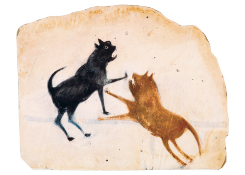 On view in San Diego through May 12, 2013  Bill Traylor - Drawings from the collections of the High Museum of Art and the Montgomery Museum of Art Bill Traylor (1854?-1949) is one of the best-known and most highly esteemed artists from the American south. A self-taught artist from Montgomery, Alabama, Traylor's depictions of life in rural and urban Alabama have made him one of the most acclaimed artists of the twentieth century. Beginning when he was in his early eighties, in a prolific decade of art making, Traylor produced more than 1,200 drawings in graphite, colored pencil, poster paints and crayon… read more - www.mingei.org/exhibition/bill-traylor/
