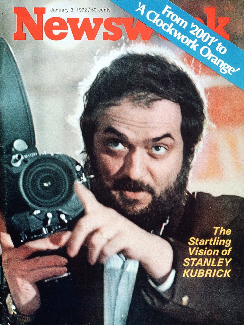 "nwkarchivist:  It's Never A Bad Time To Celebrate STANLEY KUBRICK  Kubrick is reluctant to talk about the creative process or about why he makes his movies.  ""A better question might be 'Why shouldn't I make them?'"" he says.  ""What else should I be doing?  The fact that I may be able to do them better than other people gives me an added pleasure.""  Newsweek  January 3, 1972"