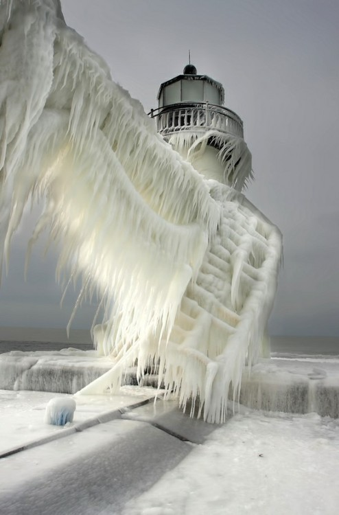 Ice from sea spray