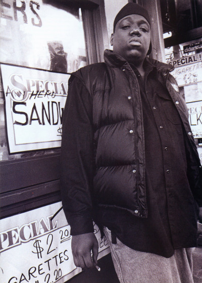 "hiphopphotomuseum:  On this day, May 21st, the great Notorious B.I.G. would've been 41 years old. He is greatly missed. R.I.P. Christopher ""Biggie Smalls."" Photo by Carl Posey for Rap Pages."