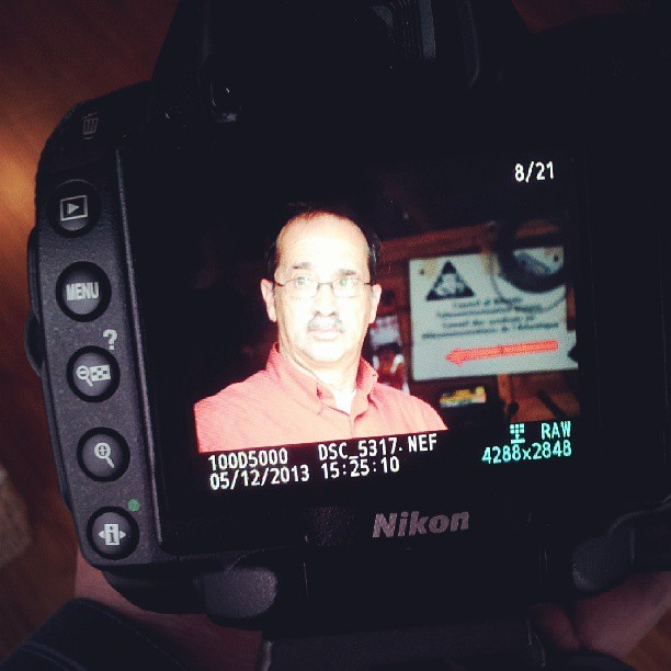 Shooting my dad on #MothersDay. #Oxymoron #Nikon #D5000 #Photography