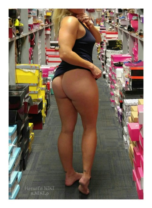 """nikikittenniki: """" More shoe shopping pics my cuckold husband took at 44th and Thomas in Phoenix I love this place I'm still trying to get fully naked in the store!…maybe next time XOXO NIKI """""""