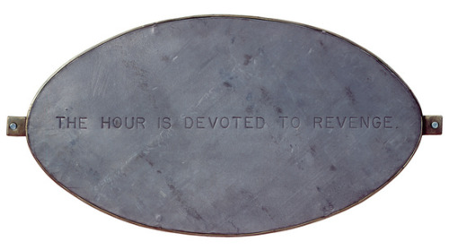 THE HOUR IS DEVOTED TO REVENGELOUISE BOURGEOISWALL RELIEF; STEEL, LEAD1999