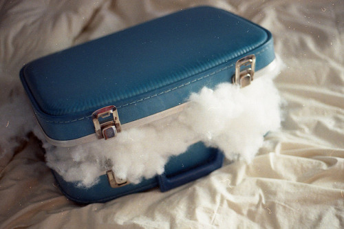 a suitcase of dreams, for any adventure, on cloud nine: for Lena & Natcha <3