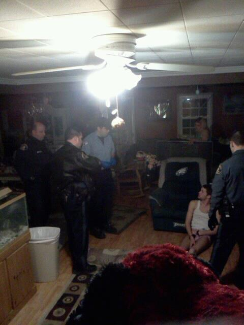 Cops in my house..