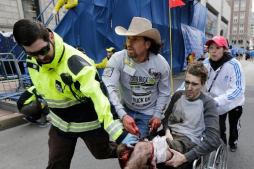 Carlos Arredondo, the Boston Marathon hero in a cowboy hat, tells us what he saw yesterday.  All of our Boston Marathon bombing coverage.