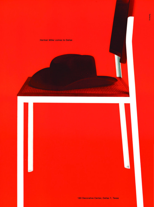 George Tschermy for George Nelson, advertisement for Herman Miller (1955) (via Container List)