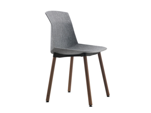 designbinge:  'motek' chair by luca nichetto for cassinagrey felt version with sh-wood stained canaletto walnut legs