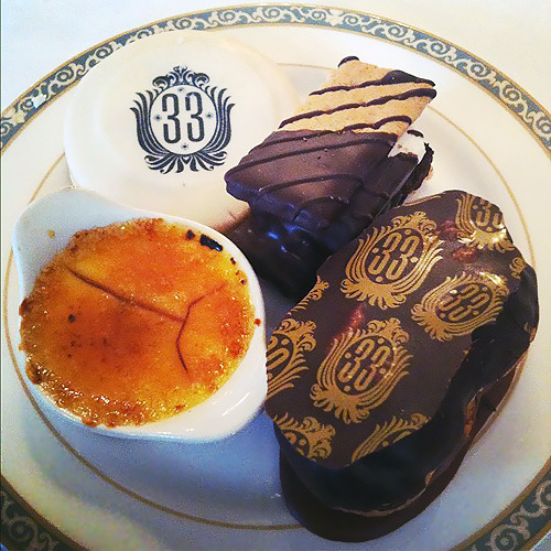 pixiedustbunny:  Desserts at Club 33, photo by Zadi Diaz.