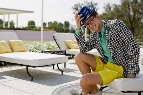 Ben Wadell in the new Mr Turk Super T Blazer. Perfect for poolside cocktails   Follow Mr Turk on Facebook, Pinterest, Twitter, Instagram, and Trendabl
