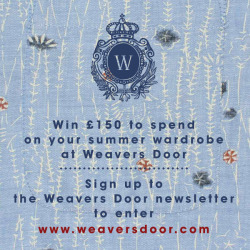 Simply sign up for the Weavers Door newsletter and you could win £150 to spend in store on you summer outfit.