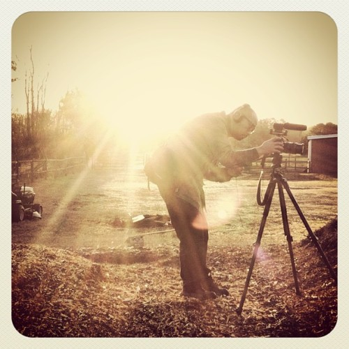 On early morning video shoot with Leo Kim. #picoftheday #instagramhub #farm #morning #beautiful #sunrise #hrva