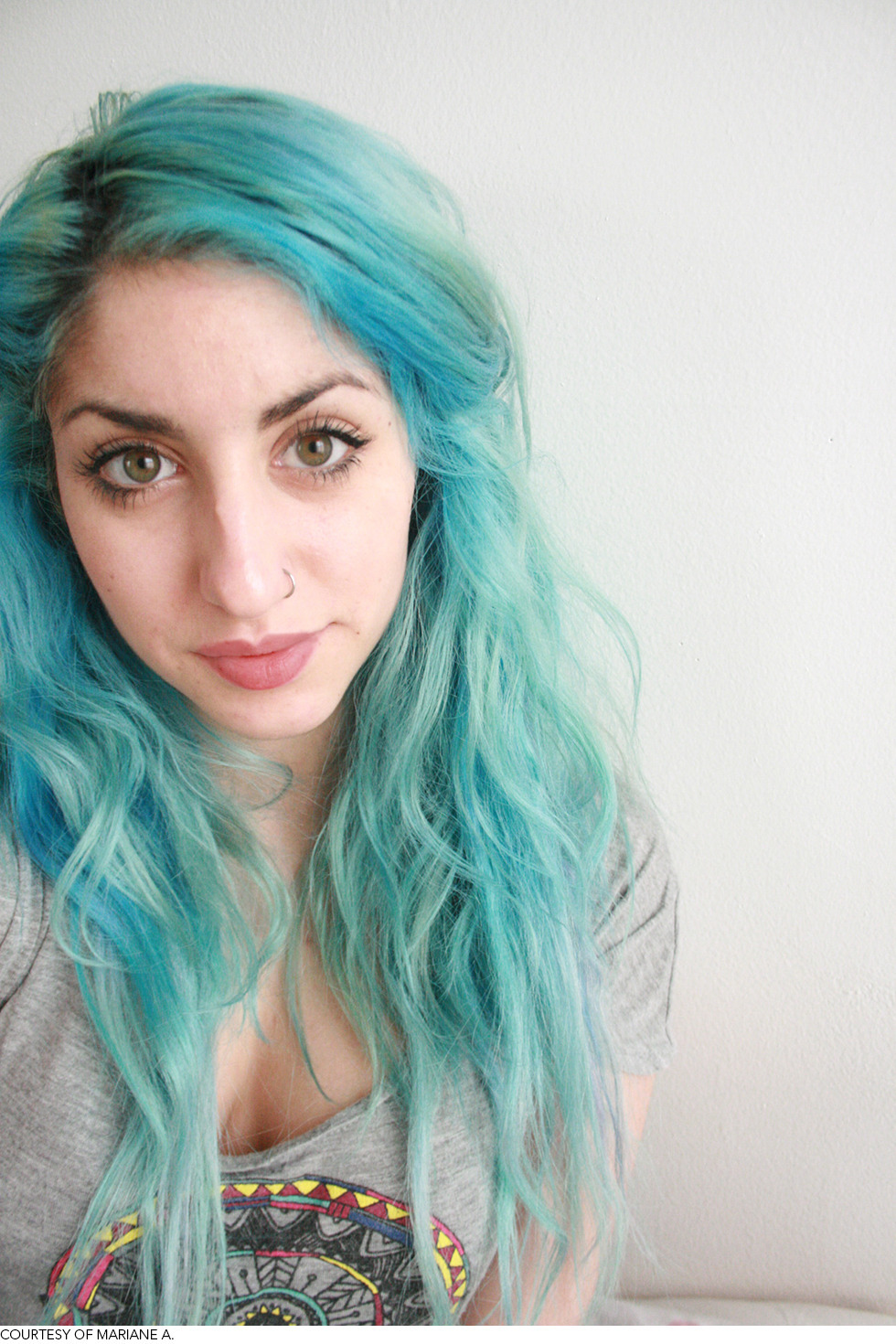 beautylish:  Love Mariane A.'s aqua hair! Check out these other festival worthy hairstyles!