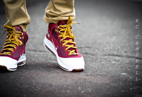 "sneakerphotogrvphy:  Air Max Lebron VII ""Christ the King"" by KCbruins1919 on Flickr."