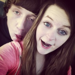 my boy(: #shopping #cute #bestfriend #boyfriend #sillyface #happy #blueeyes #bigeyes #love #couple #brunette #teengirl #pretty #likeforlike #like #follow