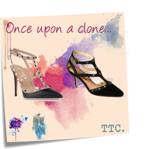 Once upon a clone: Valentino vs Mustang por threetrendycorners con leather sandalsValentino leather sandals