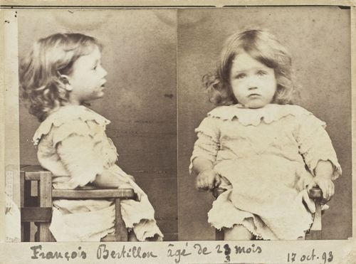 ipissedinyourmountaindew:  Mugshot of François Bertillon.  Age: 23 months.  Crime: Gluttony; nibbling all the pears from a basket. October 17, 1893.