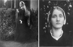 Julia Margaret Cameron, Mrs. Duckworth in Garden & A beautiful Vision (1872)