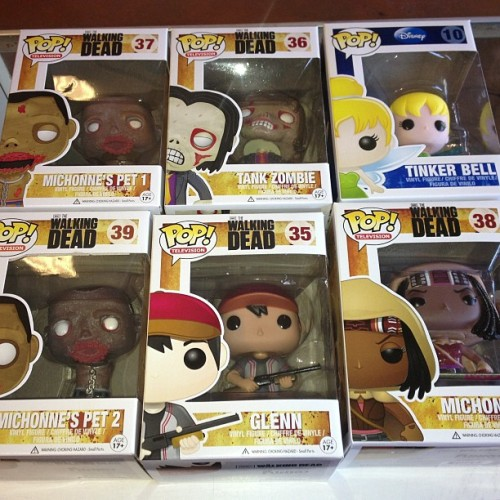 New #walkingdead #funko #pop #figures are here. #michonne #glenn #tankzombie  michones 2 pet #zombies and #tinkerbell @robertkirkman #twd #thewalkingdead #bestcomicstoreever #toyshop #toystore  (at Comic & Figure Addicts)