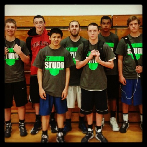 My crew for #CTStudd !! The freshest 5 freshmen since the fab five. @weston_fox @stevenc_32 @johncrawop @lamarcusaldridge @obione