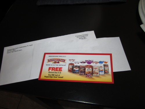 Facebook game prize…another mailbox freebie!