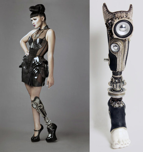 "High fashion ""stereo"" prosthetic leg will make you wish you were missing a limb Designed for the Alternative Limb Project Via"