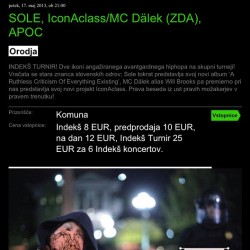 Tonight ill be playing at #kinosiska with #sole and #iconaclass in #ljubljana Be about it! #apoc #hiphop #posthiphop #rappers #concert #screenshot #slovenia