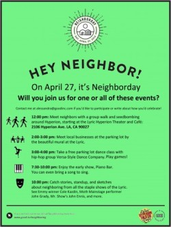 hellogiggles:  TWO DAYS 'TIL NEIGHBORDAY: LOS ANGELES, ARE YOU COMING? by Alessandra Rizzotti http://bit.ly/15Ji1Y3