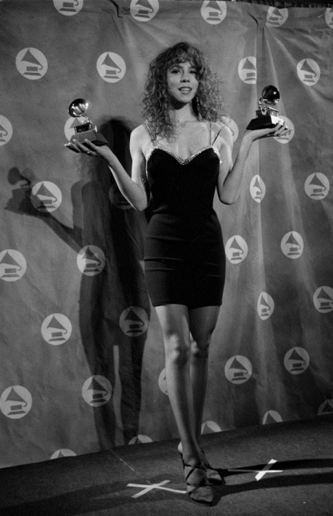 "Mariah Carey took home Best New Artist and Best Pop Vocal Performance, Female for ""Vision Of Love"" at the 33rd GRAMMY Awards in 1991 at 20 years old Photo: Time & Life Pictures/Getty Images"