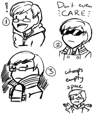 Doodling some ideas for icons because my Steam avatar is way outdated and I'm tired of the Tumblr one. WHICH ONE DO I USE I HELPFULLY NUMBERED THEM