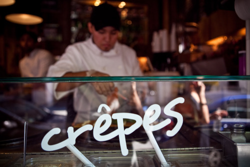 All of our crepe makers go through extensive training to guarantee perfect crepes every visit!