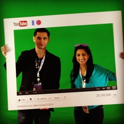 In the YouTube green screen #io13 #youtube